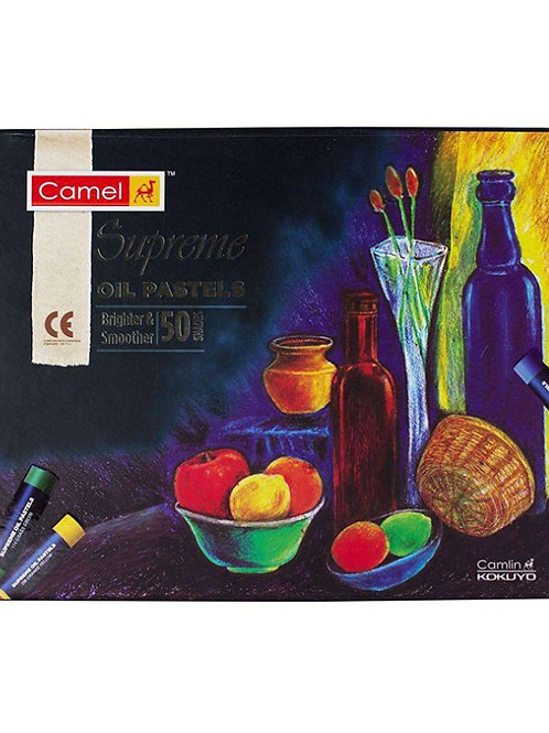 Camlin Kokuyo Supreme Oil Pastel Set - 50 Shades