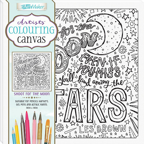 Art Maker Artists' Colouring Canvas: Shoot for the Moon