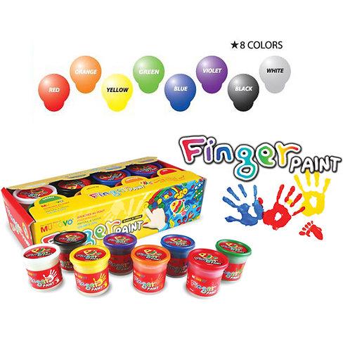 Mungyo Finger Paint Model - Set of 8 Assorted Colours