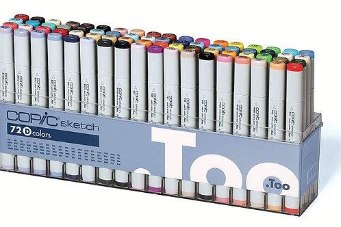 Copic Sketch Marker - Set of 72 Colours - Set D