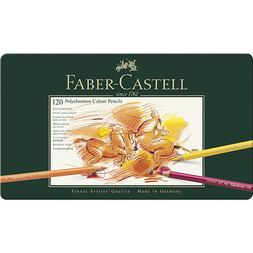 Faber Castell Polychromos Artists' Colour Pencils - Tin of 120