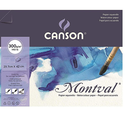 Canson Montval Watercolor Paper 300 GSM A3 -5 Sheet