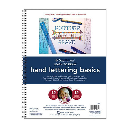Strathmore 25-652 300 Learning Series Coloured Pencil - Hand Lettering Pad