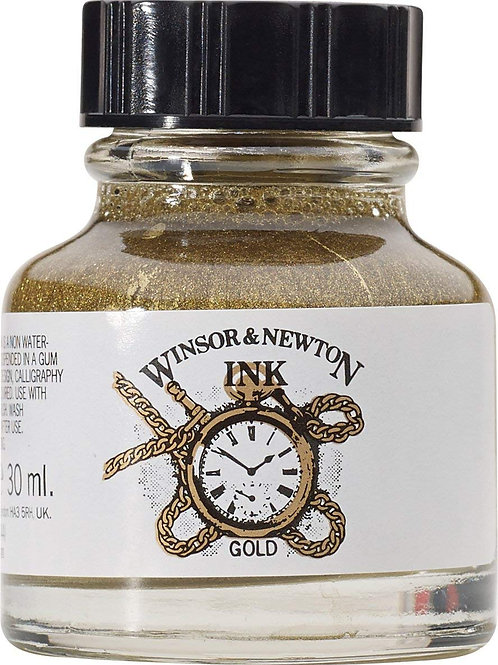 Winsor & Newton Drawing Ink Bottle Gold - 14ml & 30ml