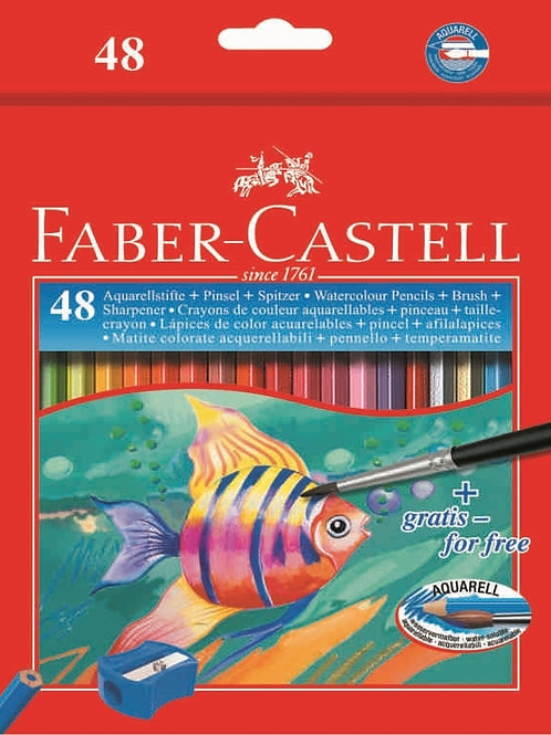 Faber Castell Water Soluble Colour Pencil - Set of 48