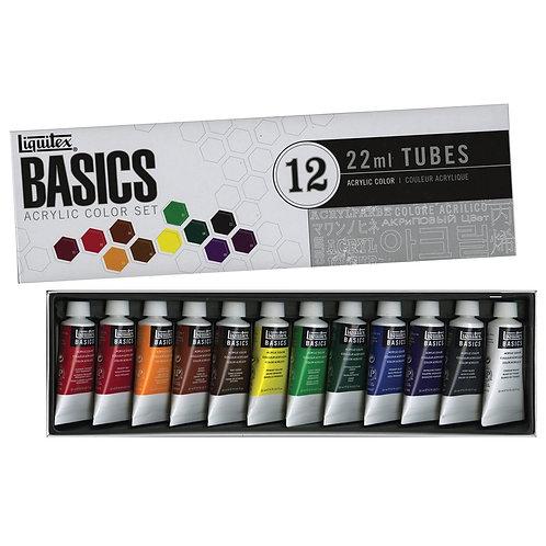 Liquitex Basics Acrylic 12 Colour set - 12x22ml