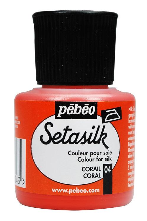 Pebeo Setasilk 45ml - Coral