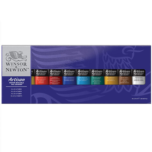 Winsor & Newton Artisan Water-mixable Oil Colour Studio - Set of 10x37ml