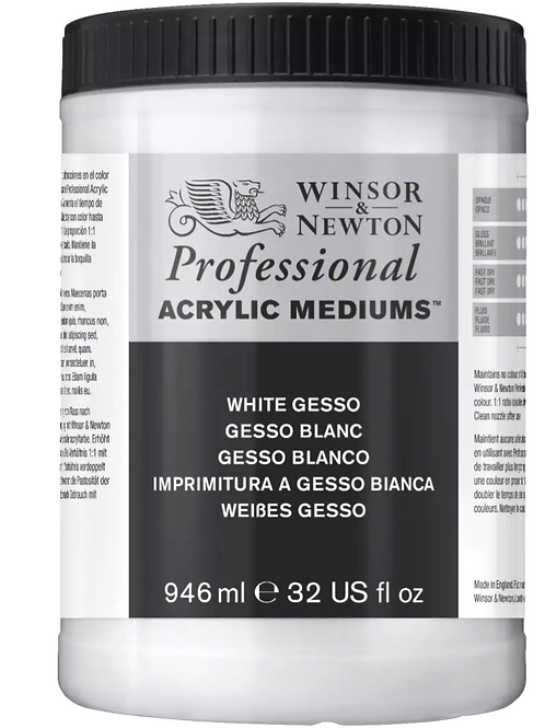 Winsor & Newton Professional Acrylic Medium Clear Gesso - 946ml