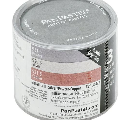 Colorfin Pan Pastel Metallic 2 - Pewter, Silver & Copper - 1 Pack (30032)