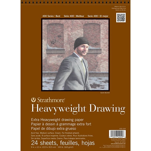 Strathmore 400 Series Heavyweight Drawing9''x12''163 GSM Paper