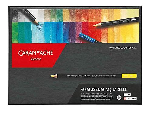 Caran Dache Artist Museum Aquarelle Colour Pencil - 40 Shades