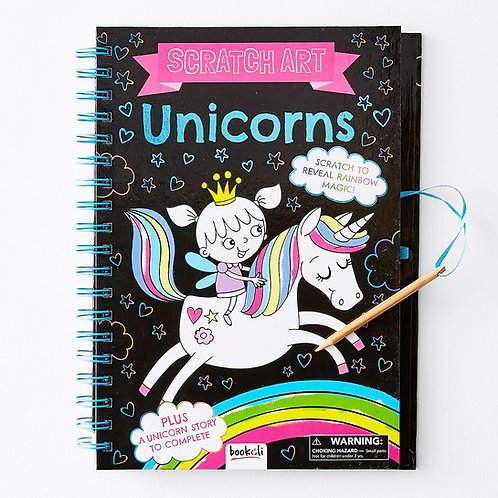 Bookoli Scratch Art Unicorns