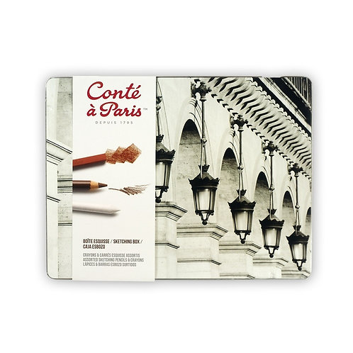 Conte A Paris Sketching Metal Box
