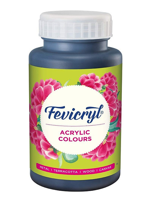 Fevicryl Acrylic Colour 500ml - Black