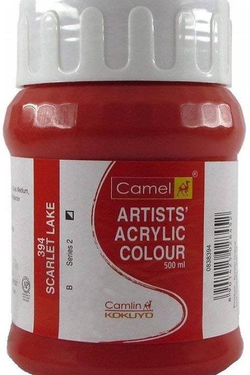 Camlin Kokuyo Artist Acrylic 500ml - Scarlet Lake