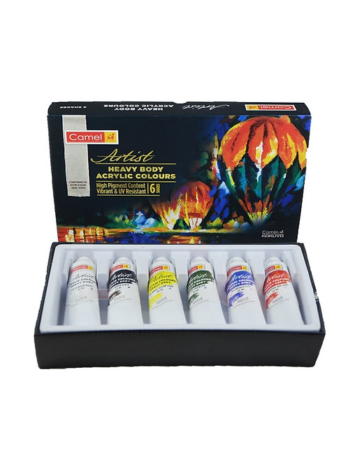 Camel Artist Heavy Body Acrylic Set 6 x 40ml