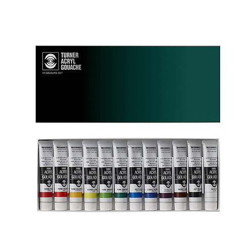 Turner Acrylic Gouache Colour 20ml - Set of 12