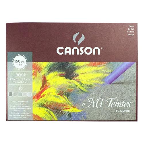 Canson Mi-Teintes Pastel Pad 32x41cm - Grey tones