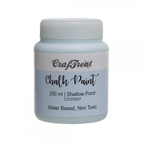 CrafTreat Chalk Paint 250ml - Shallow Pond