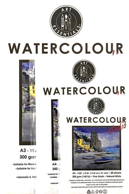 Art Essentials Watercolour Paper - Multiple Sizes (A5/A4/A3)
