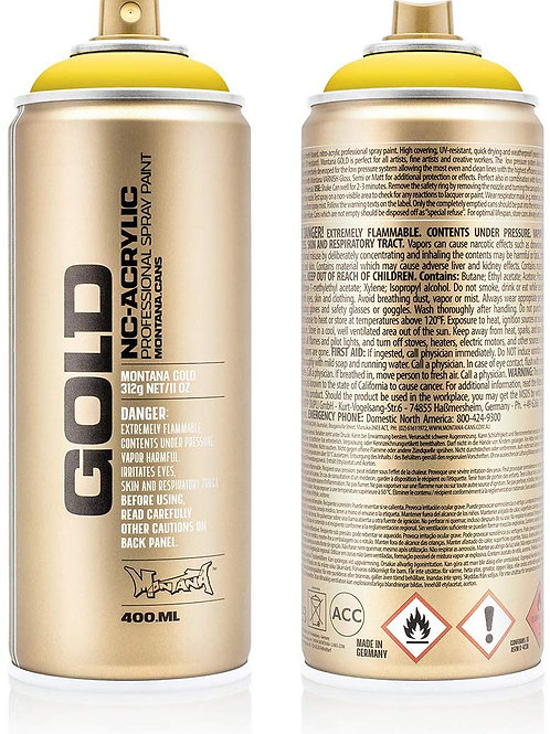 Montana Gold Spray Paint 400ml - Citrus G1020