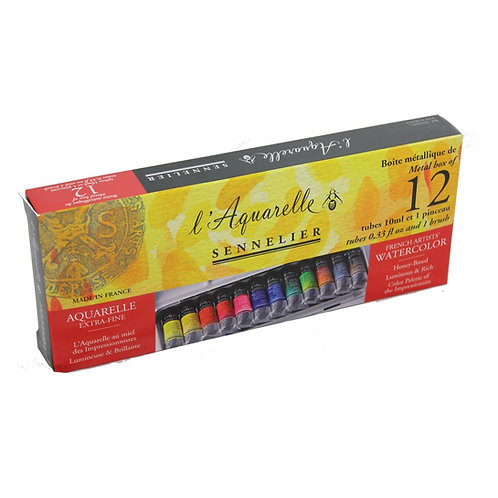 Sennelier L'Aquarelle Extra Fine Watercolour - Set 10mlx12