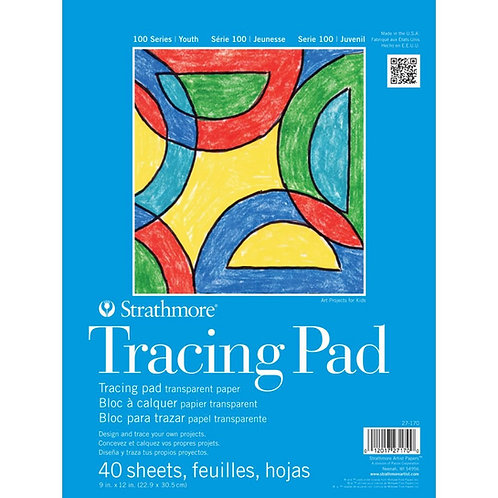 Strathmore 100 Series Tracing 9''x12'' Transparent White Tape Bound - 40 Sheets