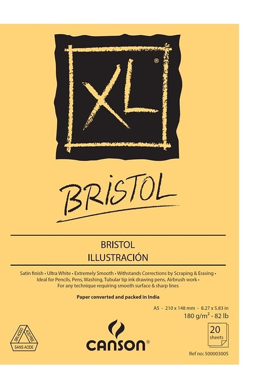 Canson XL Bristol - 180 GSM - 50 Extra Smooth Sheets