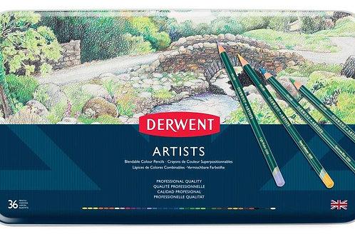 Derwent Artists Tin - Set of 36