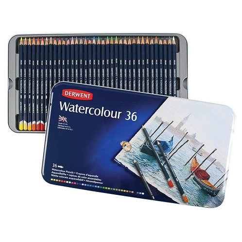 Derwent Watercolour Pencils Tin - Set of 36