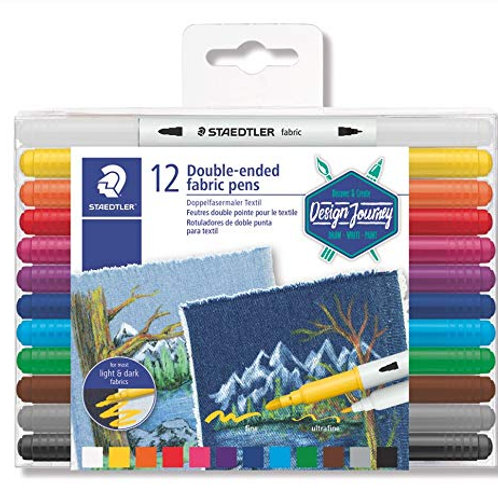 Staedtler Double-ended Fabric Pens - Set of 12
