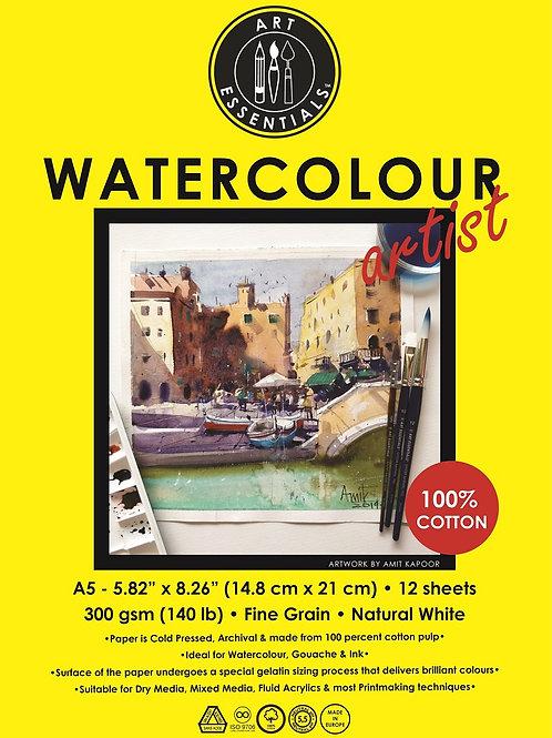 Art Essentials Watercolour Artist Pad - A5