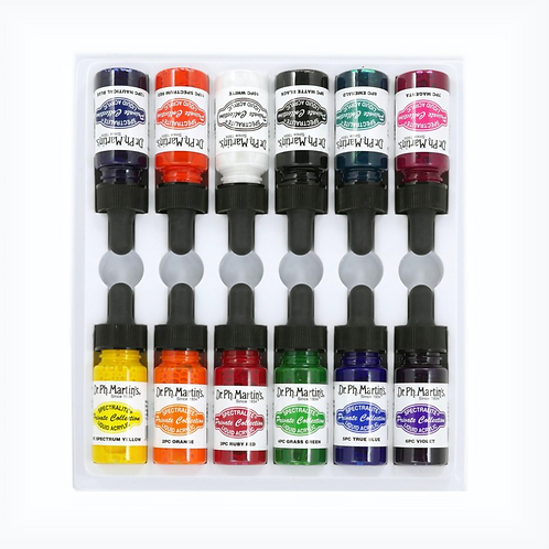 Dr. Ph. Martin Spectralite Private Collection Liquid Acrylics 15mlx12 - Set 1