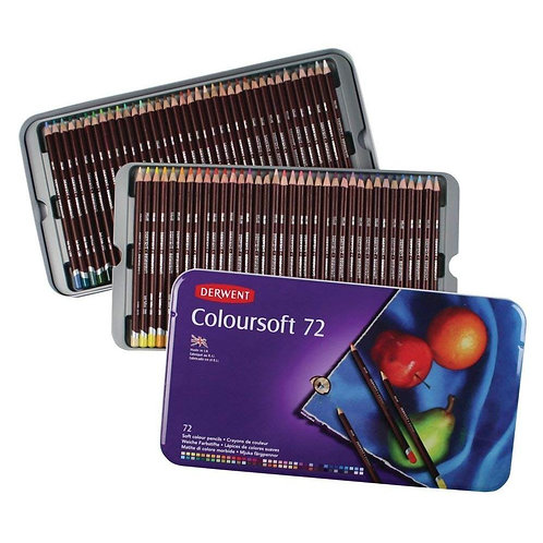 Derwent Coloursoft Tin - Set of 72