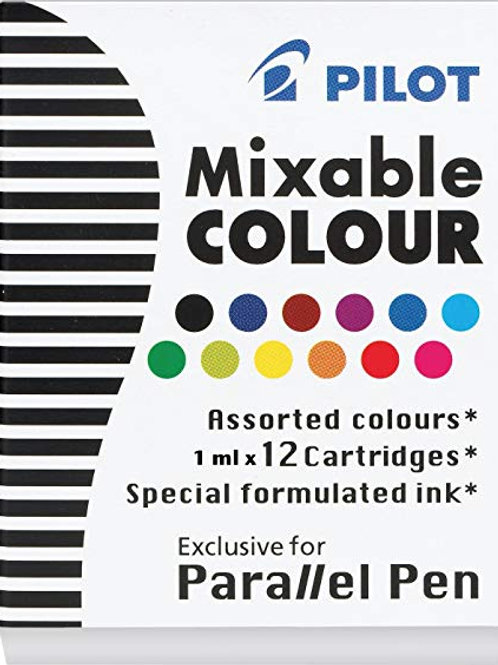 Pilot Parallel Lettering Pen Ink Refills - Assorted Box of 12