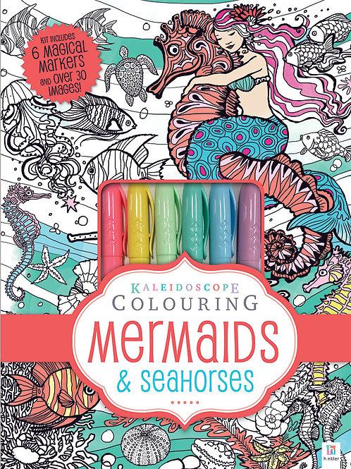 Hinkler Kaleidoscope Colouring - Mermaids and Seahorses