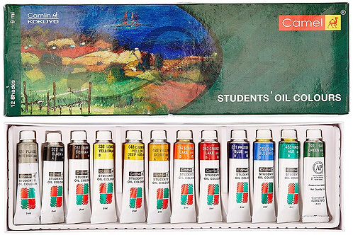 Camel Students Oil Colours Set 12 x 9ml
