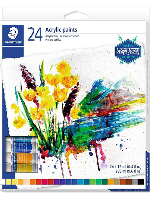 Staedtler Karat Acrylic Paint Colours Set - Pack of 24