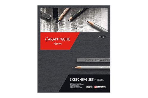 Caran Dache Artist Art by Sketching Assortment - Set of 14