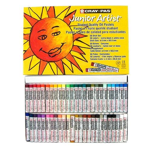 Sakura Cray-Pas Junior Artist Oil PastelsAssorted Colors - Set of 50
