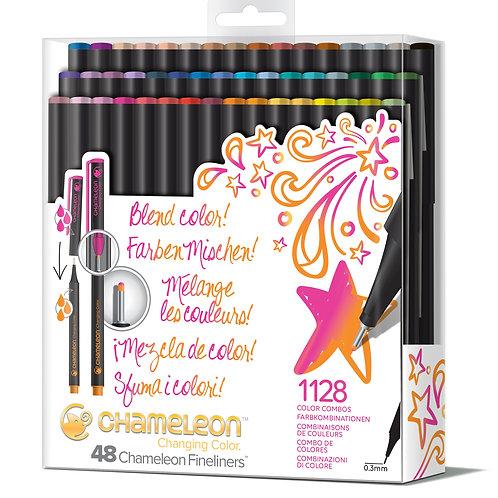 Chameleon Fineliner Pens Colours set of 48 - Brilliant colours