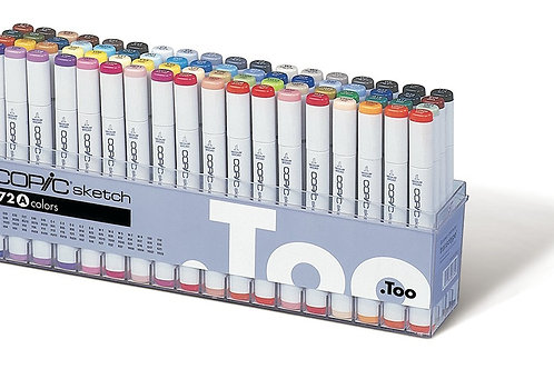 Copic Sketch Marker - Set of 72 Colours - Set A