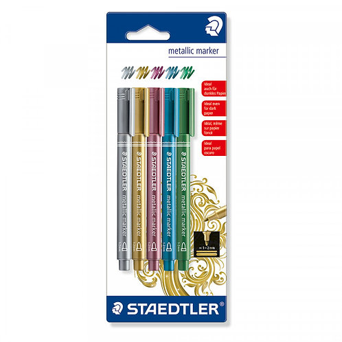 Staedtler Assorted Metallic Markers (Pack of 5)