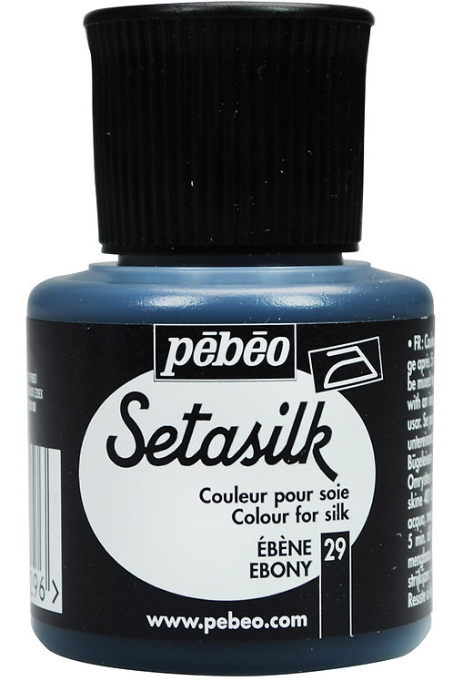 Pebeo Setasilk 45ml - Ebony