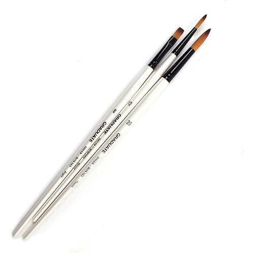 Daler Rowney Graduate All Purpose Brush Synthetic Set - Pack of 3