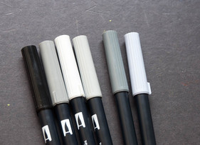 Review: Tombow Dual Brush Pens (Grayscale Set)