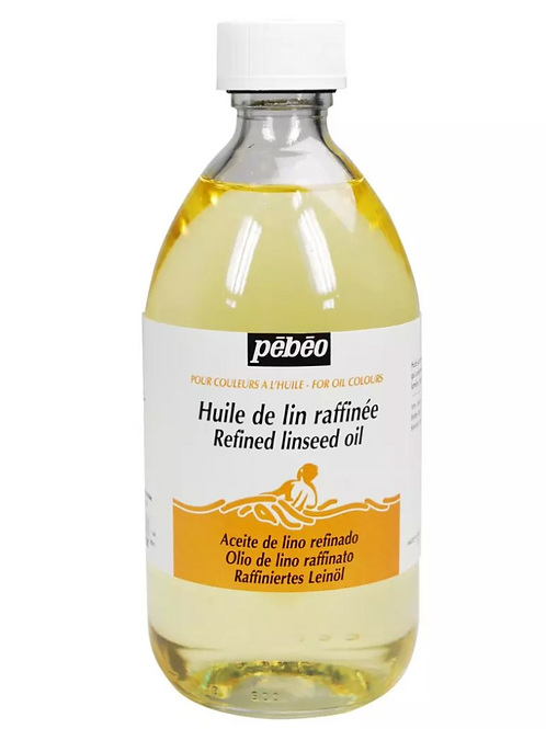 Pebeo Extra Fine Auxiliaries - Refined Linseed Oil - 495ml Bottle