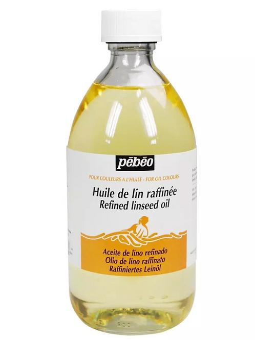 Pebeo Extra Fine Auxiliaries - RefinedLinseedOil- 495mlBottle