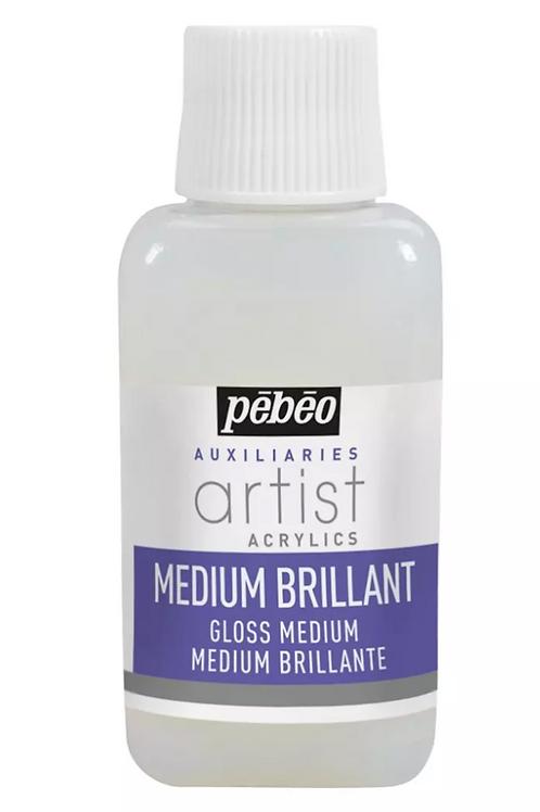 Pebeo Extra Fine Artist Acrylics Auxiliaries - Medium Brilliant - 250ml bottle